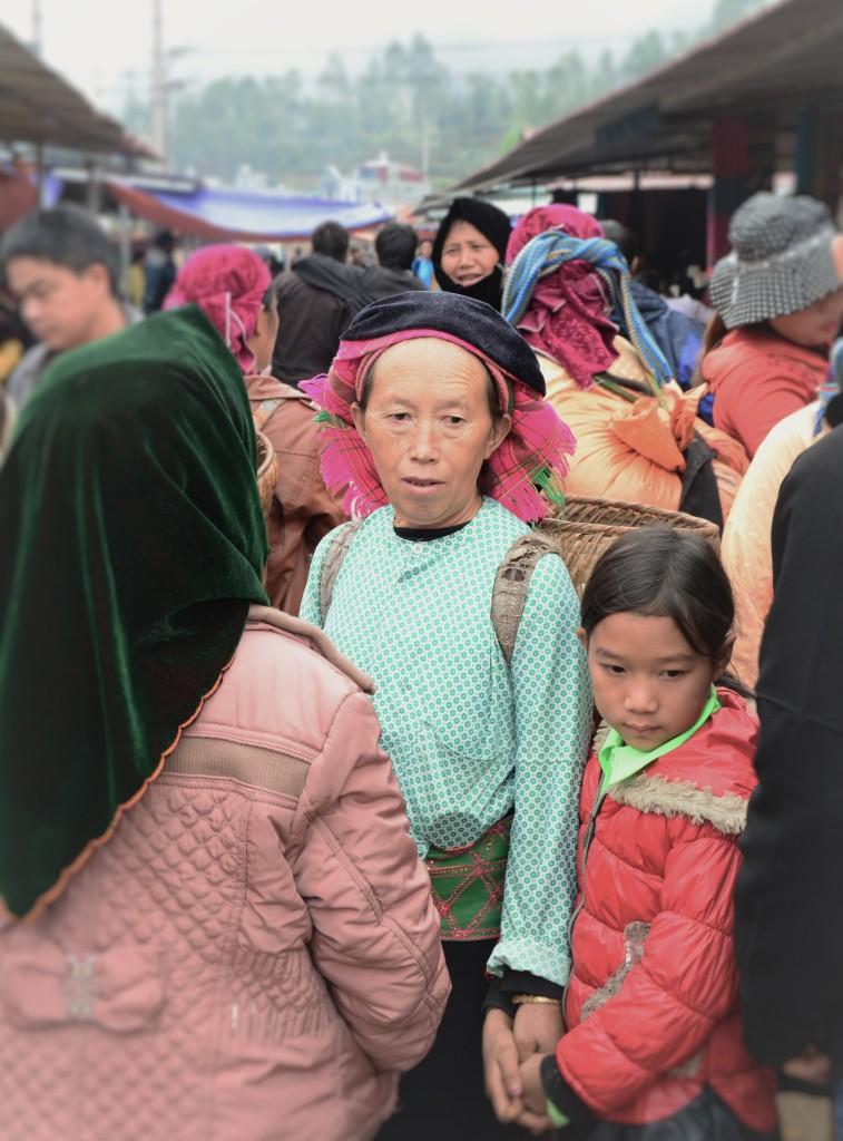 Ethnic groups at Dong Van market